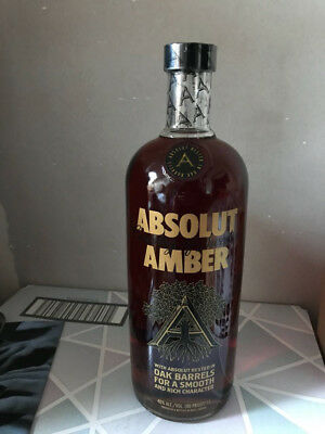 Absolut Vodka AMBER 1000 ml neu voll verschlossen