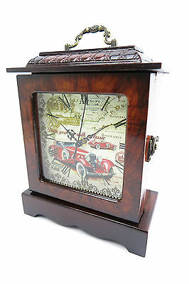 Floor Clock Mantel Clock Table Clock Classic Car Wooden Housing
