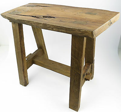 Wooden Bench Teak Stool Teakwood From Old Root Wood