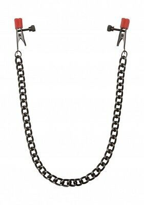 Catena con morsetti per capezzoli - KINK Nipple Clips with Heavy Chain and Silic