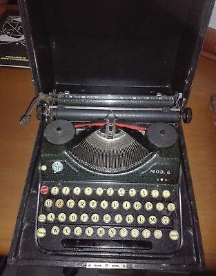 S.I.M. MOD.6 MACCHINA PER SCRIVERE del 1940 OLD TYPEWRITER MADE IN ITALY