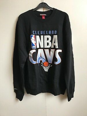 Mitchell and Ness Mens Cleveland Cavaliers Team Toss Up Sweatshirt - Black - New