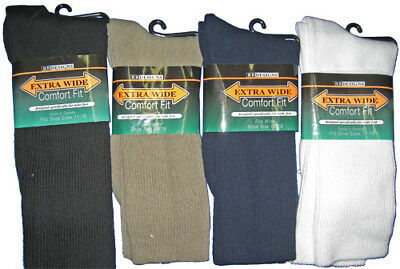 Extra Wide Men's Athletic Non-Binding Sock / For Medical Use & Wide,Swollen Feet