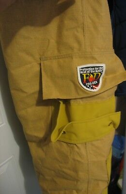 Fire Dex Firefighter Suits: Fire Turnout Pants Bunker Gear 46X29 October 2014