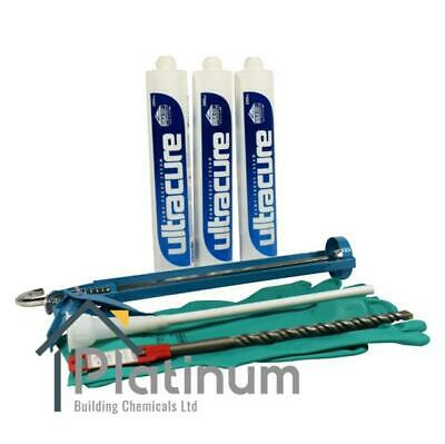(3 x 380ml KIT) ULTRACURE DAMP PROOFING CREAM / DPC COURSE INJECTION TREATMENT