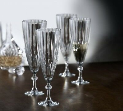 Fifth Avenue Crystal Reflections Champagne Flutes, Set of 4. Shipping is Free