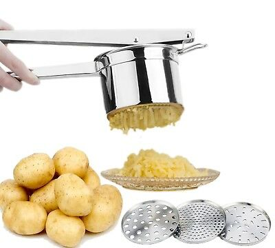 Potato Ricer / Masher by Ekarro | Professional Stainless Steel Baby Food Press
