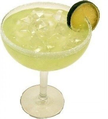 MARGARITA WITH ICE GLASS Fake Drink. Flora-cal Products. Brand New