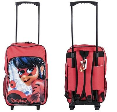 (Miraculous) - New Children's Character Deluxe Wheeled Trolley Suitcase-Back