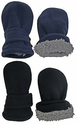 Kids Baby Winter Gloves Infant Sherpa Lined Fleece Mittens 6-18 Months 2 Pair