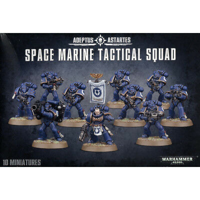 WARHAMMER 40K Citadel  10xMinatures Space Marine Tactical Squad  48-07