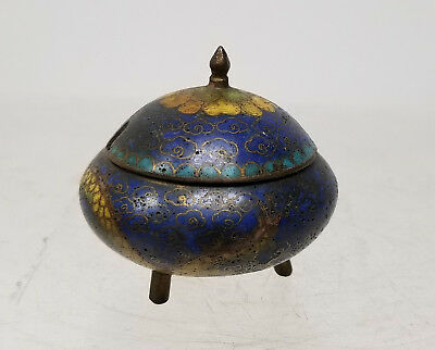 Antique Chinese Small Cloisonne Master Salt Dragon Japanese