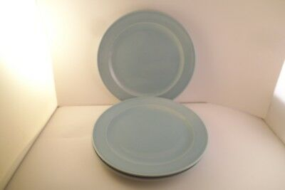 Vintage TS & T Taylor Smith LuRay Pastels Set of 3 Salad Plates Blue