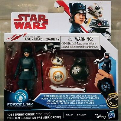 ROSE (FIRST ORDER DISGUISE) BB-8 & BB-9E Star Wars The Last Jedi Force Link Pack