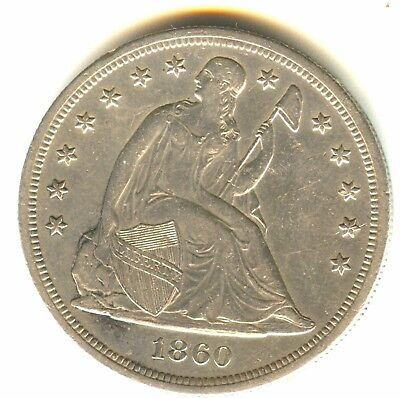 1860 O Seated Liberty Dollar MS Details In Grade Scarce New Orleans Mint Issue