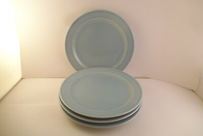 Vintage TS & T Taylor Smith LuRay Pastels Set of 4 Bread Plates Blue