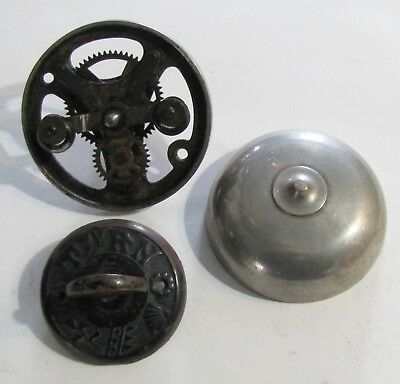Victorian Mechanical-Twist Nickle-Plated Brass Doorbell