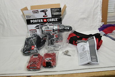 PORTER-CABLE PCC620LB 20V MAX Lithium Ion Hammer Drill Kit