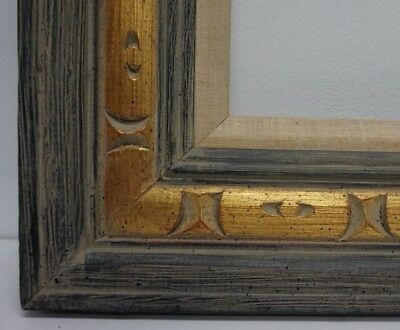 Exceptional Mid Century Mexican Hand Carved Gilt Wood Picture Frame fits 10 x 14