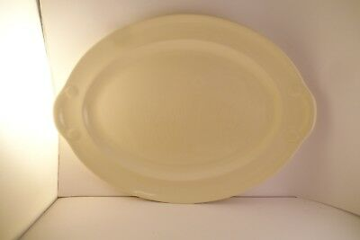 """Vintage TS & T Taylor Smith LuRay Pastels 13"""" Oval Serving Platter Yellow A"""