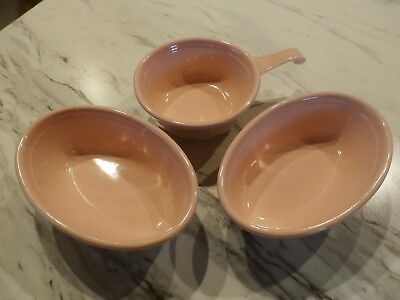 3 Vintage T.s.t Taylor Smith Taylor Ovenserve Ware Pink Bakers