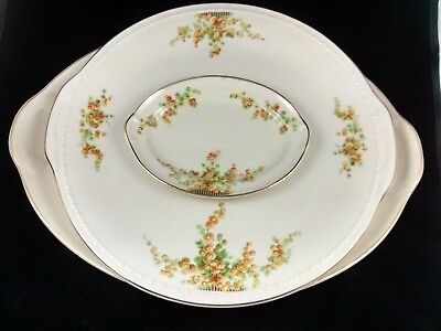 "TST - Large 15 1/2"" Oval Platter, 13"" Cake Plate & Small Oval Plate - Acacia"