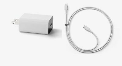 Google Quick Fast Charger Gray- Adapter with TYPE C to C Wire for Pixel/XL/C
