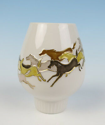 Hans Achtziger Mid-Century Modern Horses Candle Holder Hutschenreuther Porcelain