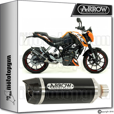 Arrow Muffler Thunder Aluminium Dark Carby Cup Hom Ktm Duke 125 2011 11 2012 12