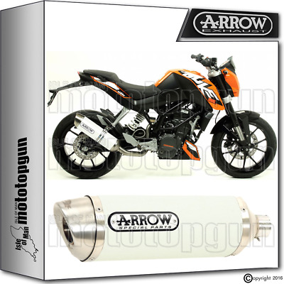 Arrow Exhaust Thunder Aluminium White Hom Ktm Duke 200 2012 12 2013 13 2014 14