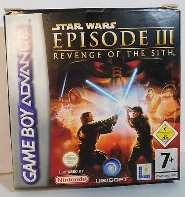GBA Star Wars Episode III Revenge of the Sith OVP