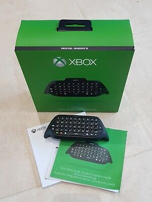 Original Microsoft Xbox One Chat-Pad Tastaur schwarz One-S One-X