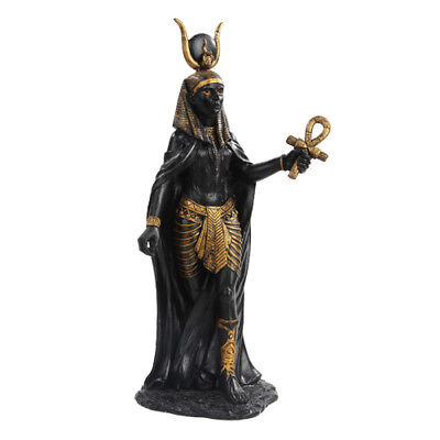 """NEW! 11"""" Hathor Egyptian Goddess of the Sky Figurine Statue Gold Accents 9971"""