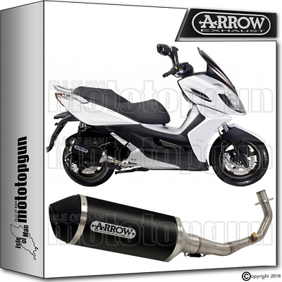Arrow Full Exhaust System Urban Aluminium Dark Hom Kymco K-Xct 125 2013 13