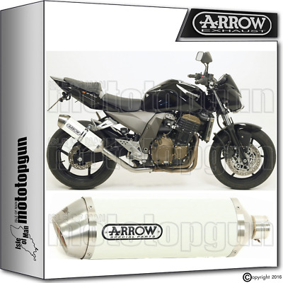Arrow Muffler Race-Tech Aluminium White Hom Kawasaki Z-750 2004 04 2005 05