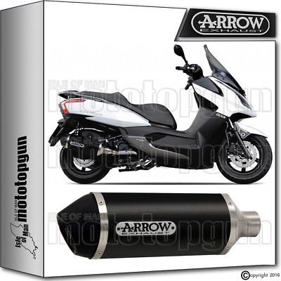 Arrow Muffler Urban Aluminium Dark Hom Kymco Downtown 300 2015 15 2016 16