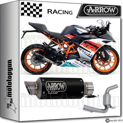 Arrow Kit Muffler Gp-2 Stainless Steel Dark Race Ktm Rc 390 2015 15 2016 16