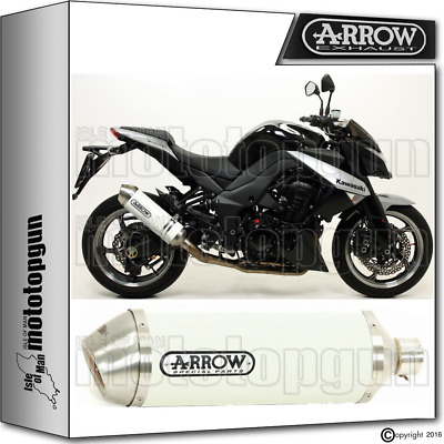Arrow Exhaust Racetech Aluminium White Hom Kawasaki Z-1000 2012 12 2013 13