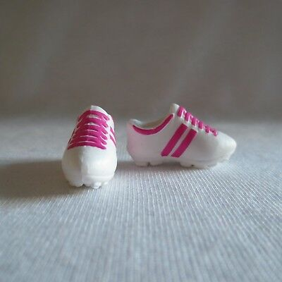 NEW Barbie Made to Move Doll White & Pink Soccer Sneakers ~ Fashionista Shoes