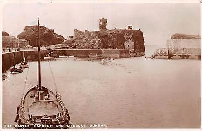 Scotland Dunbar, The Castle Harbour and Lifeboat 1948
