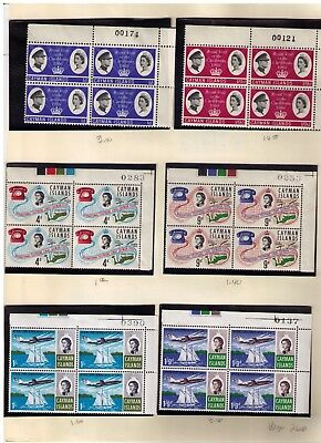 CAYMAN ISLANDS Stamps,NICE LOT of blocks,sets&singles on 12 pages,MINT CV:$115.0