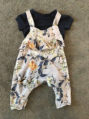 Baby Girls Next Floral Summer Jumpsuit playsuit dungarees outfit 6-9M and MORE!