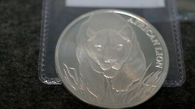 2017 Republic of Chad 5000 Francs CFA African Lion 1 oz .999 Silver Coin