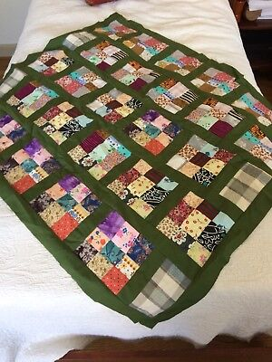 "Quilt Top Patchwork Quilt Top Handmade / Machine Stitched About 41""x37"" New"