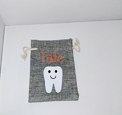 Tooth Fairy Bag|Pouch|Sack for lost Baby Teeth; Personalize with Child's Name|
