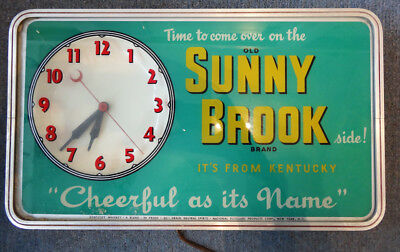 Sunny Brook Whiskey Sign and Clock