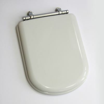 Ideal Standard SOTTINI REPRISE Toilet Seat and Cover WHITE Chrome hinges