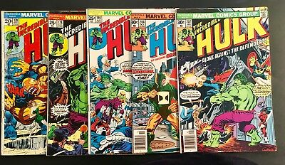 The Incredible Hulk Marvel Comic Books Lot of 5 Bronze Age No Reserve