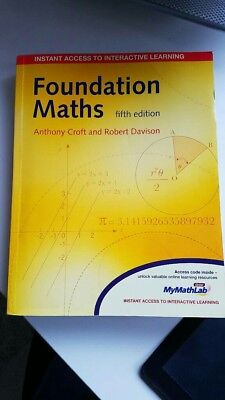 Foundation Maths (fifth edition) by Anthony Croft and Robert Davison