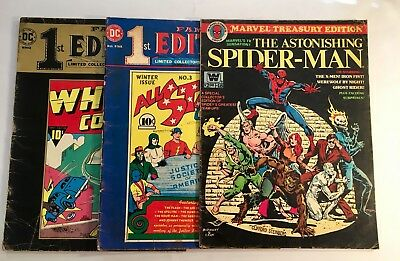 Mixed Treasury 3 Book Lot Special Collector Editions Spider-man & Captain Marvel